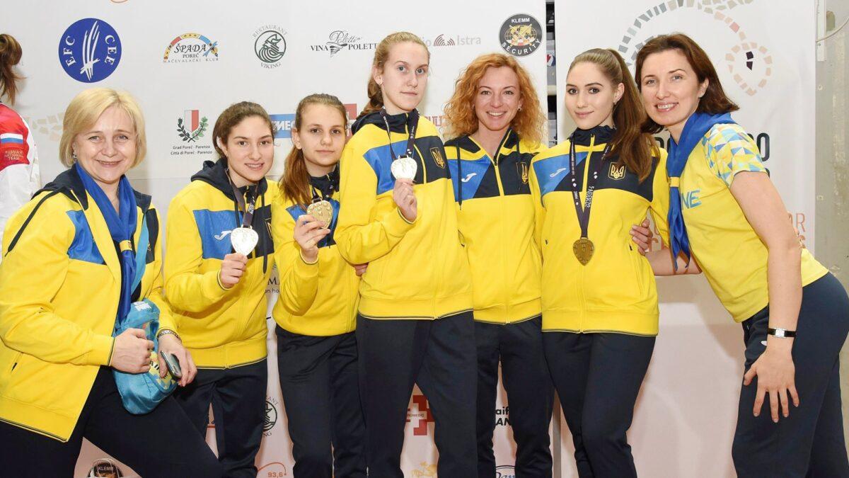 Вітаємо наших фехтувальників високими результатами на чемпіонаті Европи
